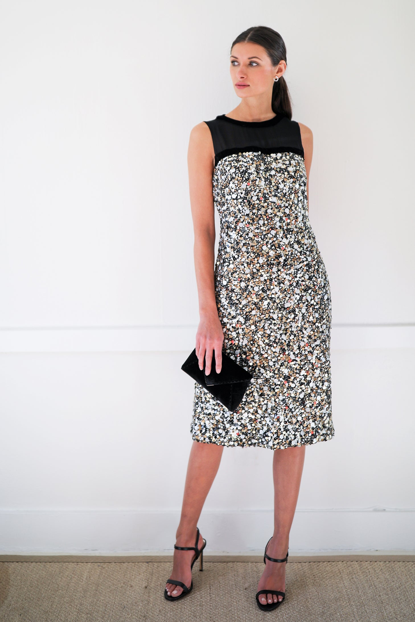 Sequin Column Dress