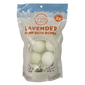 Bulk Hemp Bath Bomb Bag (8 Count) | Lavender