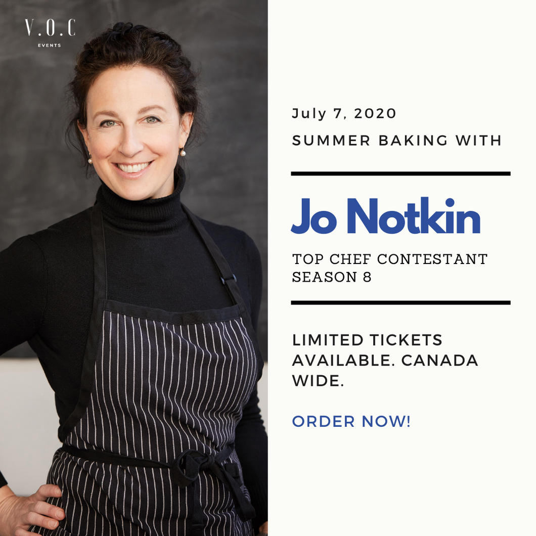 Online Baking Class with Chef Jo Notkin  (July 7, 2020 @7pm EST)