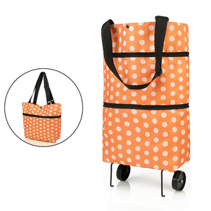 Folding Shopping Pull Cart Trolley Bag With Wheels