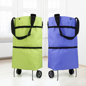 Folding Shopping Pull Cart Trolley Bag With Wheels - Activeadultliving