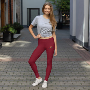 P3 Arrow Red Wine Leggings