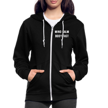 Load image into Gallery viewer, Mind Calm ~ Body Fast - Agility Zip Hoodie - 2 - black