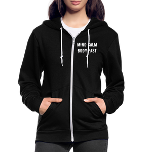 Mind Calm ~ Body Fast - Agility Zip Hoodie - 2 - black