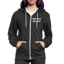 Load image into Gallery viewer, Mind Calm ~ Body Fast - Agility Zip Hoodie - 2 - charcoal gray