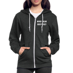 Mind Calm ~ Body Fast - Agility Zip Hoodie - 2 - charcoal gray