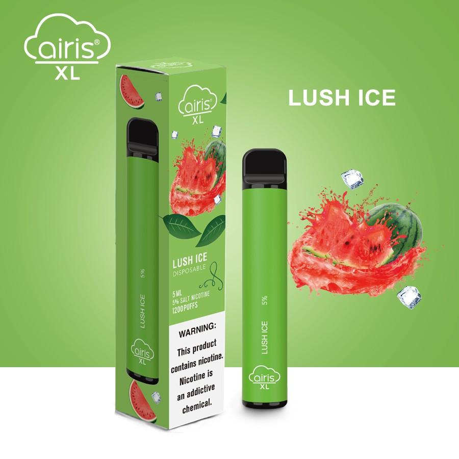 Airis XL Disposable Vape 1200 Puffs Lush Ice Flavor (Box of 10)