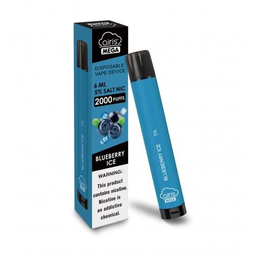 Airis Mega 2000 Puffs Blueberry Ice (Box of 10)