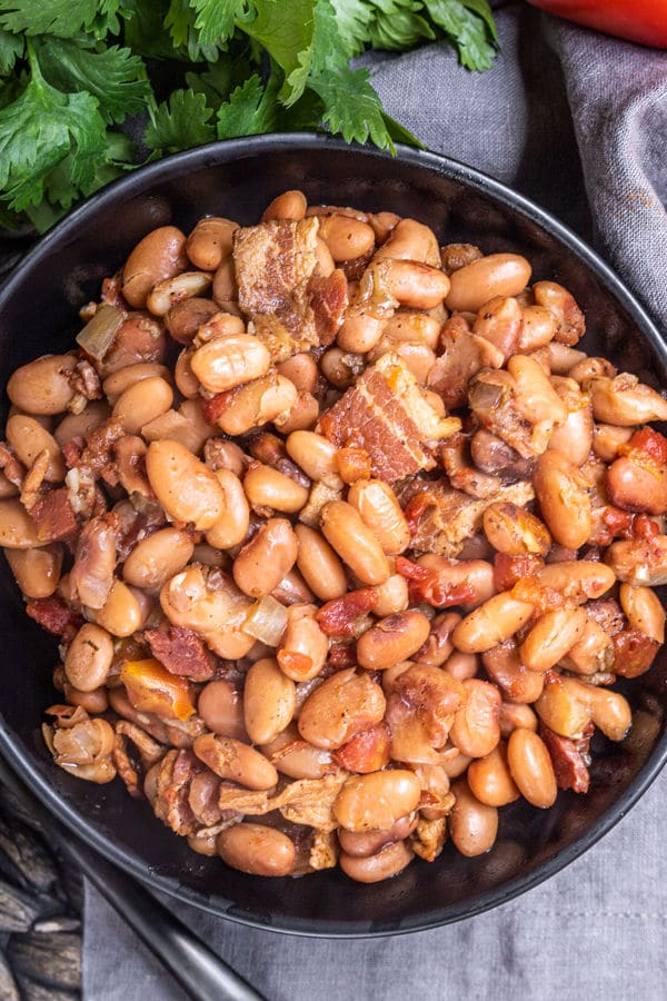 Smoky Beans with the BEST Bacon