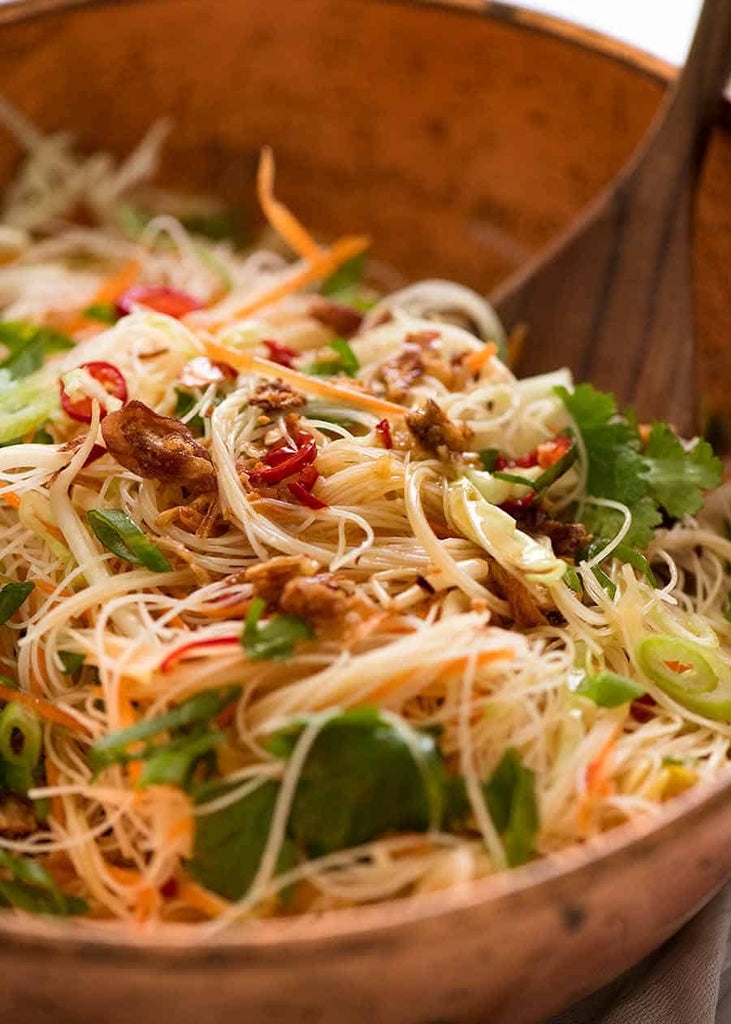 Beefy Vermicelli Noodles with Fresh Herbs and Winter Veg
