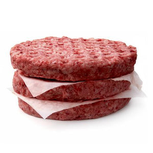 1 x Pack of 10 Large Sirloin Burger Patties (6oz)