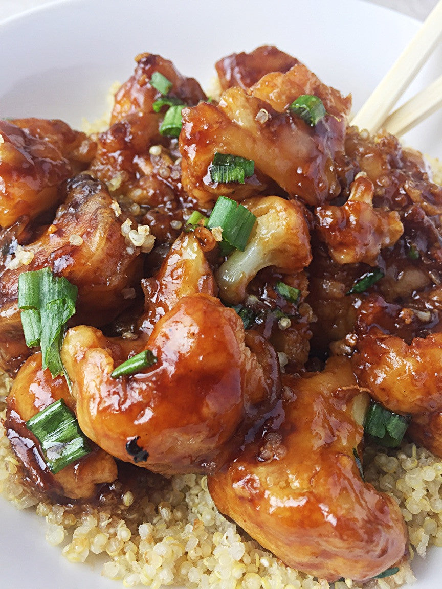 Teriyaki Cauliflower Quinoa Bowl