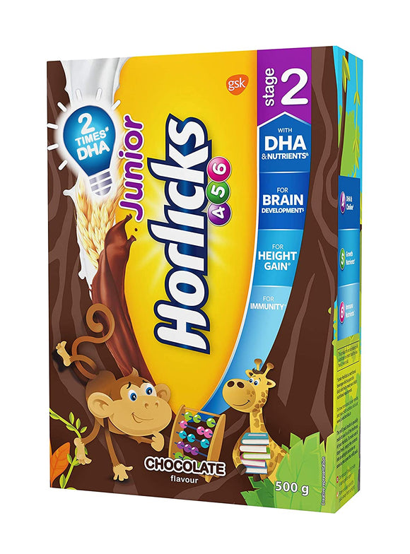 Junior Horlicks 2, Chocolate 500gm