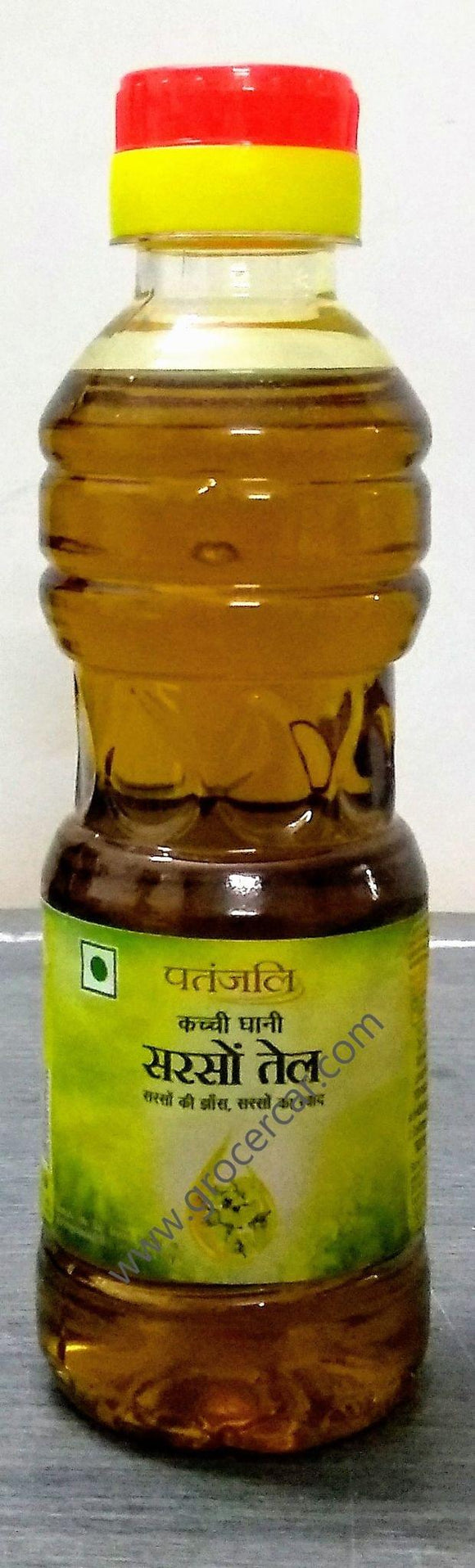 Patanjali kachi ghani Mustard Oil Bottle
