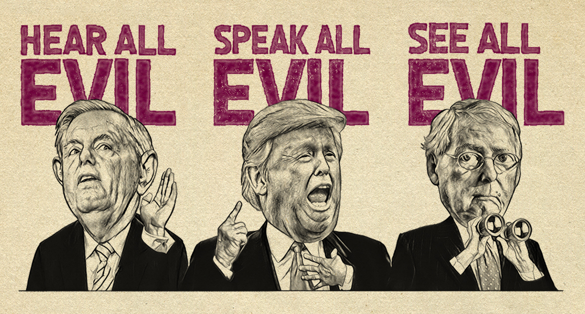 Hear All, Speak All, See All Evil