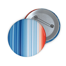 Load image into Gallery viewer, Climate Warming Stripes Button - Americonia