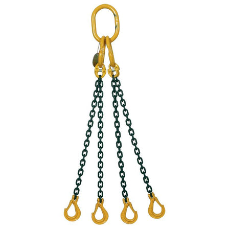 4.2 Ton Grade 8 Four Leg Chain Sling with Shortener and Sling Hook - [Lifting365.com]