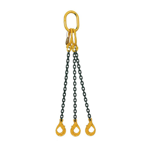 6.7 Ton Grade 8 Three Leg Chain Sling with Shortener and Sling Hook - [Lifting365.com]