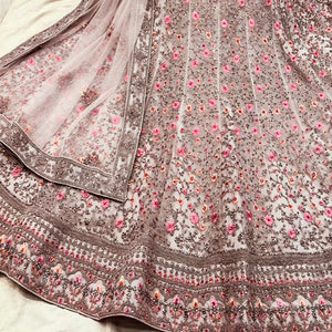 Light Brown Chikankari Lehenga