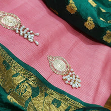 Load image into Gallery viewer, Pink Designer Suit With Green Banrasi Dupatta