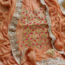 Load image into Gallery viewer, Beautiful Peach Gota Patti Salwar Suit