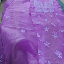 Load image into Gallery viewer, Organza Chikankari Salwar Suit In Violet