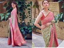 Load image into Gallery viewer, ALIYA BHATT BANARASE BANDEJ SAREE