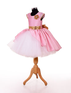Babypink western dresses for  girls for party