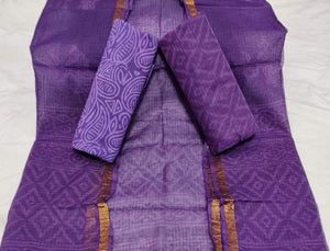 Bagru Kota Doria salwar suit in purple, Kota Doria Bagru print suits, Bagru prints salwar suits