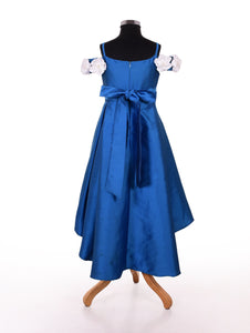 Blue indo western party dresses for girls