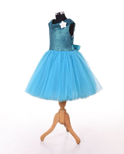 Blue western frock for  girls for party