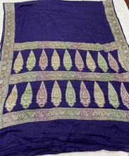 Load image into Gallery viewer, Blue Banarasi Saree In Meenakari,Traditional Sarees, Banarasi Saree, Meenakari Banarasi saree, Banarasi Meenakari Saree
