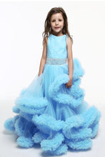 Load image into Gallery viewer, Blue Color Frill Dress For Baby
