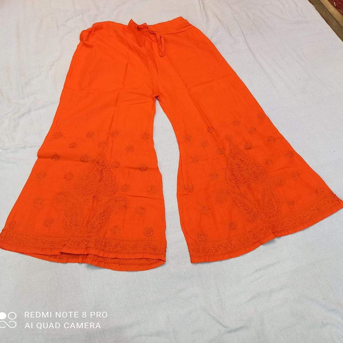 Cotton Palazzo In  Orange ,Cotton Palazzos Pants