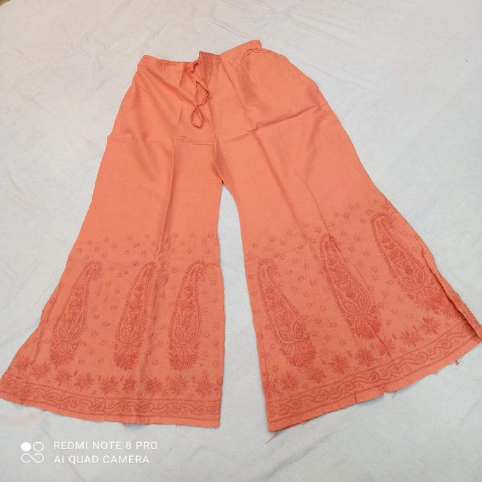 Cotton Palazzo In Light Orange ,Cotton Palazzos Pants Online