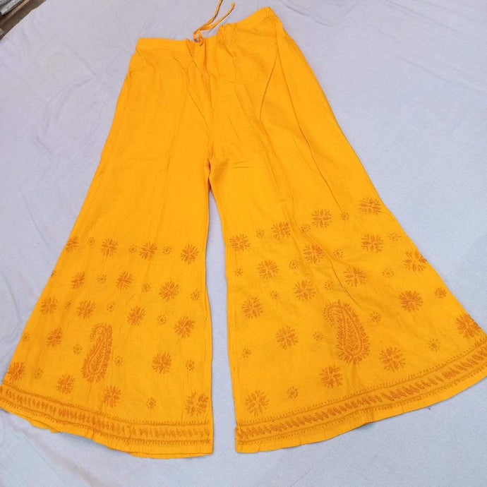 Cotton Palazzo In Yellow ,Comfortable Bottom Wear