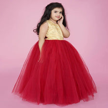 Load image into Gallery viewer, Kids wear, Girls Party Wear Frock, Party Wear Dress, Dresses for Girls, Party frock for girls, Girls Dresses