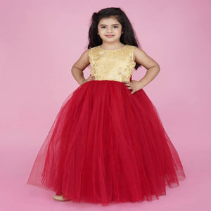 Evening Gowns For Girls In Red Color