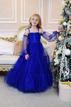 Load image into Gallery viewer, Blue Party Wear Long Dress For Girls