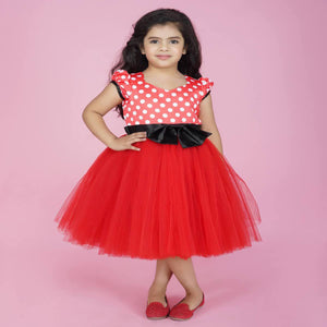 Frock For Baby Girl In Red Color