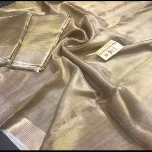 Golden Tissue Saree ,Plain Tissue Sarees, Tissue saree with Price