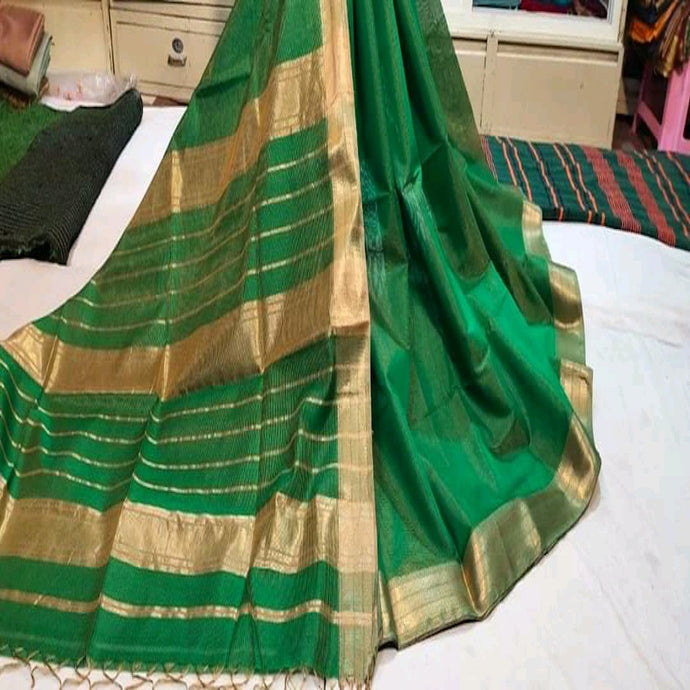 Green Maheshwari Saree With Zari, Maheshwari saree price, Maheshwari sarees online India