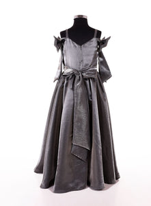 Grey Designer party wear long gowns for girls