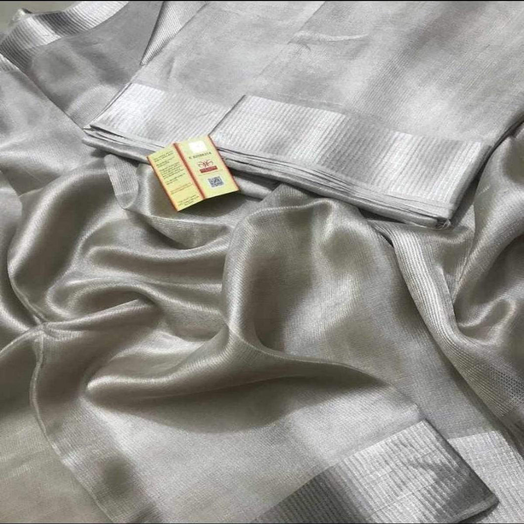 Grey Tissue Saree ,Tissue Saree Online, Premium Tissue Sarees
