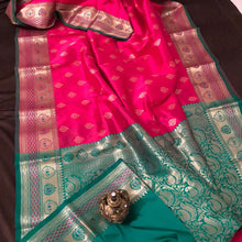 Load image into Gallery viewer, Hotpink upada silk saree