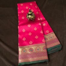 Load image into Gallery viewer, Hotpink Upada Silk Saree,Banarasi Upada Saree ,Banarasi Upada Online
