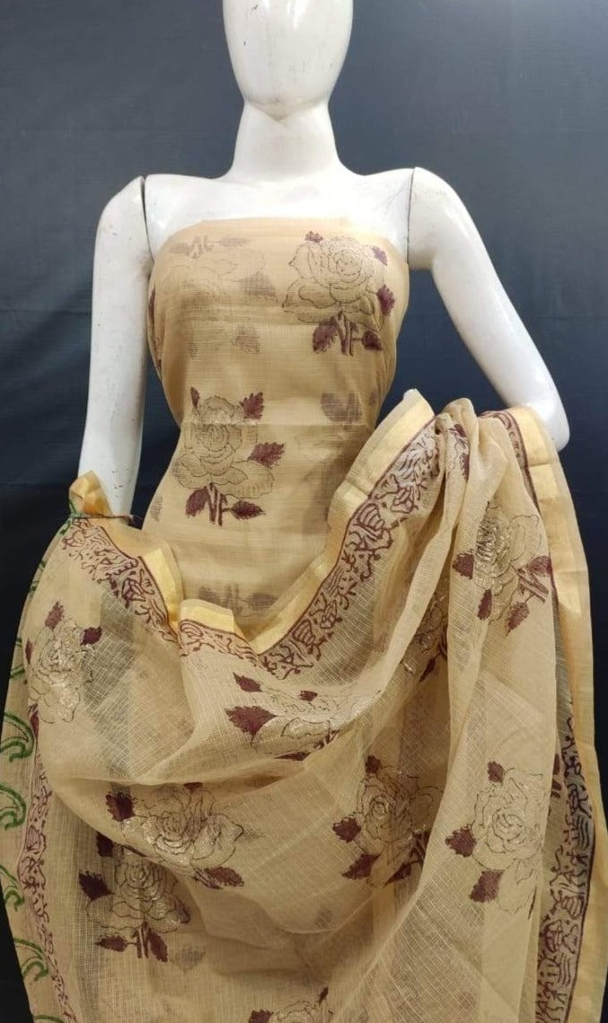 cream kota salwar suit