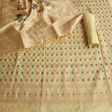 Load image into Gallery viewer, Chanderi Suit With Digital Print Dupatta In Cream Color