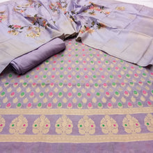 Load image into Gallery viewer, Chanderi Suit With Digital Print Dupatta In Purple
