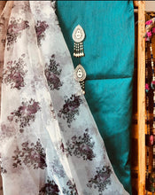Load image into Gallery viewer, Rama Green Suit with Beautiful Organza Dupatta